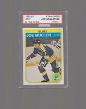 1982-83  OPC JOE MULLEN #307 RC KSA 9 (500 GOALS )