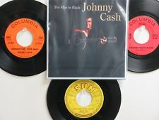 LOT OF 4 ' JOHNNY CASH ' HIT 45's+1P(Copy)[Man In Black] THE 50's-70's!