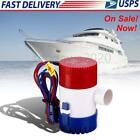 1100GPH 12V Electric Marine Submersible Bilge Sump Water Pump for Boat Yacht US photo