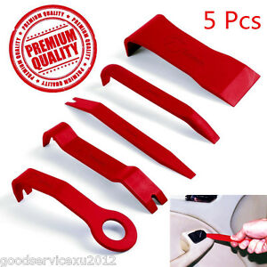 5 Pcs Red Nylon Portable Car Interior Door Panel Centre Console Pry Open Tool