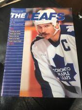 Rob Ramage Cover Program Toronto Maple Leafs vs Calgary Flames   Nov 3 ,1990