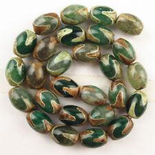 """Piedras Preciosas Ágata natural verde ónice espaciador granos flojos para la fabricación de joyería 15/"""""""