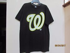 New Men's size M WASHINGTON NATIONALS BASEBALL Black W logo MLB Genuine Merch