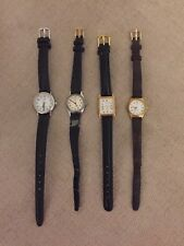 Job Lot Bundle Of Vintage Ladies Wrist Watches Le Cheminant Citron Lorus Timex