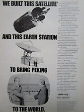 3/1972 PUB HUGHES AIRCRAFT SATELLITE CHINA PEKIN NIXON INTELSAT IV COMSAT AD