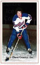 1982-83 Regina Pats #4 Dave Goertz