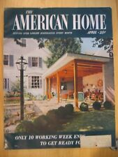 1955 April THE AMERICAN HOME Lobster Stairs Headboard Terrace Topiary Lawnmower