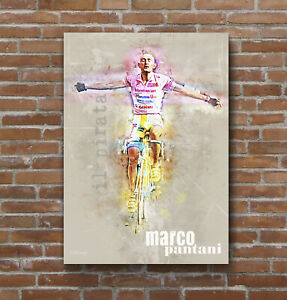 Marco Pantani Cycling Art Print Poster
