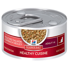 Hill's Science Diet Adult Healthy Cuisine Poached Salmon & Spinach Medley 2.8 oz