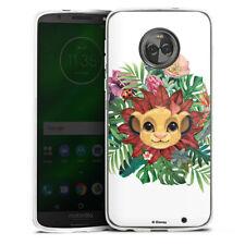 Lenovo MOTO g6 PLUS IN SILICONE GUSCIO Case Cellulare-SIMBA Flowers