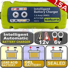 NEW 1.5A 6v-12v Intelligent Smart Car Bike Sealed,Lead Acid,Gel, Battery Charger