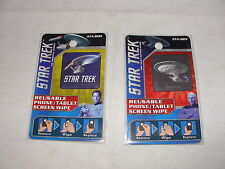 2pc Ataboy Star Trek Starship Enterprise Reuseable Phone/Tablet Screen Wipe Set