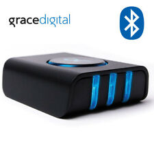 Grace Digital 3Play Bluetooth Receiver Adapter 3 Device Sync Hub Gdi-Btpb300
