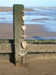 Driftwood Heart Hanging Decoration Garland   Decoration  FREE POST  coastal