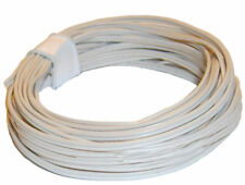 5m Kabel für Puppenhausbeleuchtung zweiadrig, 2x10x0,10 weiß 0,30 €/m Kahlert