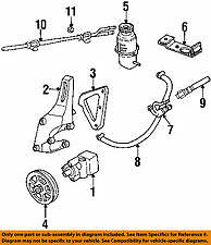 Dodge CHRYSLER OEM Intrepid Pump Hoses-Steering-Power Steering Cooler 4782260AD