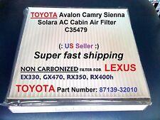 For TOYOTA AC CABIN AIR FILTER Avalon Camry Sienna Solara C35479  87139-32010