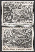 FSAT/TAAF 1972 Crozet/Ships/Transport/Exploration/Nautical/Flags 2v set (n40071)