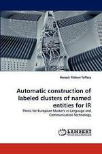 Automatic construction of labeled clusters of named entities for IR: Thesis for