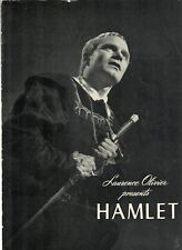 Hamlet 1948 original Film Program Laurence Olivier Jean Simmons Peter Cushing