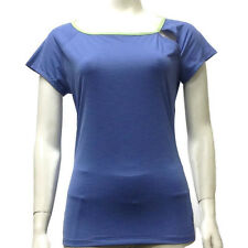 Women's Top ELEVEN by VENUS WILLIAMS Purple/Green M Spandex Sport Athletic Gym