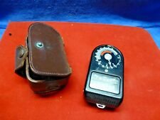 Vintage WESTON MASTER 715 Universal Exposure Light Meter & Leather Case