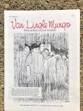 BASEBALL sheet music VAN LINGLE MUNGO 1969 novelty song 1985 reprint