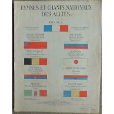 HYMNES et CHANTS NATIONAUX des ALLIES La Marseillaise Chant du Départ Brabançonn