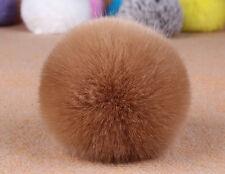 Bunny Rabbit Fur Bag Handbag Keychain Pompom Fluffy Ball Key Chain Ring Pendant