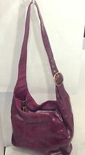 COACH Bleecker Sophie Patent Leather Gloss Berry Hobo Shoulder Bag 12387 K38
