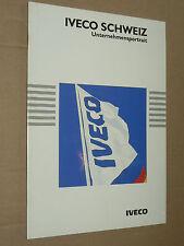 Catalogue Camion IVECO Usine Suisse Schweiz prospekt brochure tyruck LKW