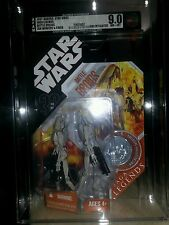 Star wars battle droids Saga Legends tac AFA 9.0 uncirculated