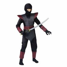 Ninja Fighter Costume Child Boys  Red / Black / Gray  Fun World  Small/Medium