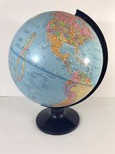 "The George F Cram Imperial World Globe 12"" In Box Black Plastic Stand"