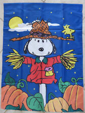 Snoopy Peanuts Fall Thanksgiving Garden Yard Flag Large Brand New