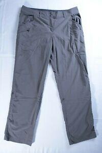 Exofficio Women's Sz 12 pants roll up capri Hiking Camping Tan Outdoor
