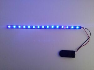 Battery led strip Length 2inc - 40inc /  5 cm - 1 meter Green, Red, Blue, Purple
