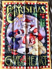 Mary Engelbreit Holiday Flag Collection Christmas Give Your Heart