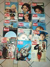 Lot De 40 Anciennes Revues Paris Match. 1956. Différents Numéros. Vintage