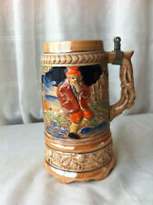 NO Pewter Lid -Singing Foreign Collectable Pottery Beer Stein Tankard / Mug 568m