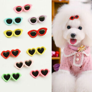 Fur clip sunglasses in oval and heart designs dog or cat