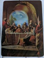 Vintage Lenticular 3D Postcard Last Supper Jesus Easter Religious MultiMotion
