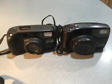 LOT 2 35mm Film Camera PENTAX UNTESTED FOR PARTS REPAIR ZOOM 105-R ZOOM 90 WR