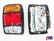 FOR NISSAN DATSUN 1200 UTE 78-85 TAIL LIGHT, BLACK RIM- LEFT PASSENGER SIDE