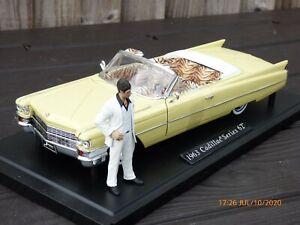 JADA 1:18 SCARFACE CADILLAC SERIES 62 AL PACINO Rare Toy Model Collectible Car