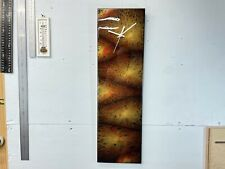Black Red and Gold Abstract Resin Wall Clock