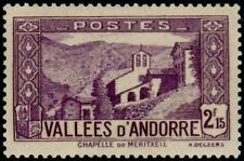 """ANDORRA FRENCH N° 83 """" CHAPELLE NOTRE-DAME OF MERITXELL 2 F. 15"""" NEW xx TTB"""