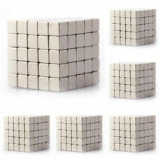 125 Pcs Neodymium Super Strong Magnets 3mm Cube N35 Rare Earth Disc