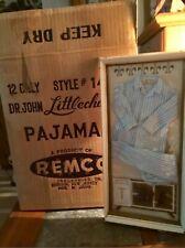 Vtg Remco Dr. John Littlechap pajamas Nrfb Nos Lot Of12 In Store shipper Box