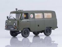 Scale model car 1:43, UAZ-452A/UAZ-3962 sanitary